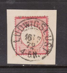 Germany #4 VF Used On Piece