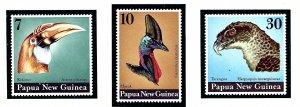 Papua New Guinea 399-401 MNH 1974 Birds