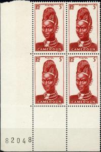 Cameroun #228 5c Mandara Woman MNH Corner Block of 4