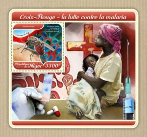 NIGER - 2017 - Malaria and Red Cross - Perf Souv Sheet - MNH
