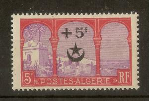 Algeria 1927 Wounded Soldier 5fr Opt SG84 MNH Cat£75