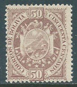 Bolivia, Sc #45, 50c MH