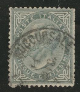 Italy Scott 26 used King Victor Emmanuel CV$4 1863