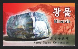 North Korea. 2002. boucle 4591-94. Minerals, geology. MNH.