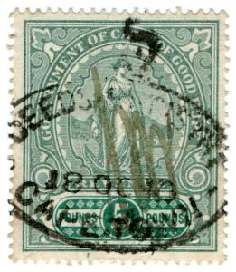 (I.B) Cape of Good Hope Revenue : Duty Stamp £5