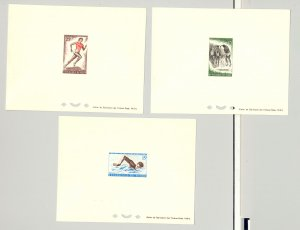Niger #114-116 Volleyball, Swimming, Running, Sports 3v Deluxe Sheets