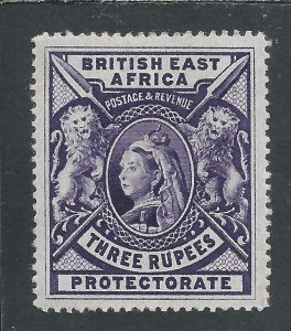 BRITISH EAST AFRICA 1897-1903 3r DEEP VIOLET MM SG 94 CAT £180