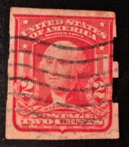 320 Washington 2C, Circ. Impf. Schermack, Carmine T1, NH, Vic's Stamp Stash