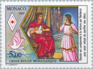 Monaco 1989 The conviction of St. Dévote by the Roman governor Barbarus MNH**