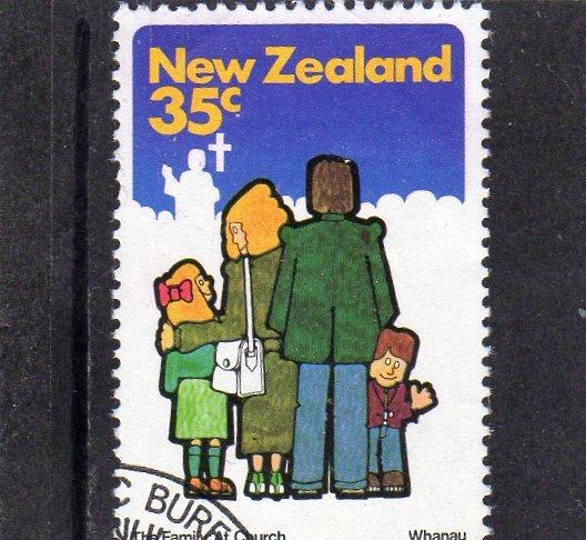 New Zealand Family at Church used