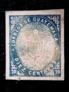 GUATEMALA - SCOTT# 3a - MH - CAT VAL $45.00