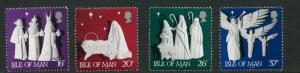 Isle of Man #488-491 MNH CV$3.00 Christmas Three Kings Manger Angels [110858]