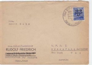 Russian Occupied Germany 1948 Bad Schandau to New York stamps cover R20788
