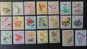 Belgian Congo 1952-53 flowers 21v MM