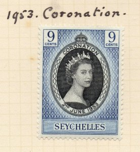 Seychelles 1953 Coronation Early Issue Fine Mint Hinged 9c. NW-99395