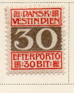 Danish West Indies Sc J7 1905 30 bit Postage Due stamp mint