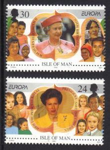 Isle of Man   #679-680  MNH 1996  Europa  famous women