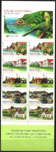 South Africa. 1998. MN 1159-63. Tourism, provinces of South Africa, ostriches...