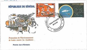 ECOLOGY \ NATURE \ DISASTERS \ HELICOPTER  - FDC COVER - SENEGAL  1983
