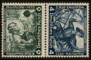 Germany 1933 Wagner Opera Music Mi SK19 MH Se-tenant Zusammendruck 63471