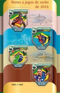 SAO TOME E PRINCIPE 2015 SHEET SUMMER OLYMPIC GAMES BRAZIL SPORTS st15518a
