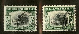SOUTH AFRICA 64a,b USED SCV $4.00 BIN $1.75 WAGGON