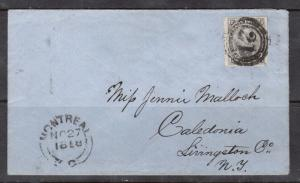 Canada #5d VF Used On Cover To NY **With Certificate**
