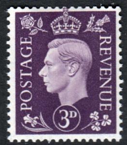 GB KGVI 1937 3d Violet SG467 Mint Never Hinged MNH UMM