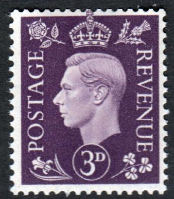 GB KGVI 1937 3d Violet SG467 Mint Never Hinged MNH UMM