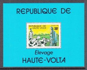 Burkina Faso 592 Goats Souvenir Sheet MNH VF