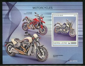 GUINEA BISSAU 2019  MOTORCYCLES  SOUVENIR SHEET MINT NH