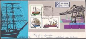 SINGAPORE 1972 Shipping souvenir sheet on Registered FDC ...................3026