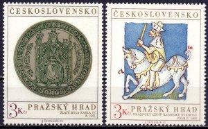 Czechoslovakia. 1973. 2141-42. Prague Castle. MVLH.