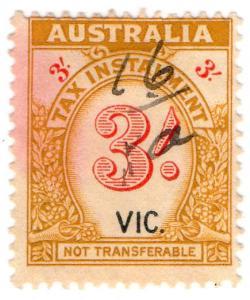 (I.B) Australia - Victoria Revenue : Tax Instalment 3/-