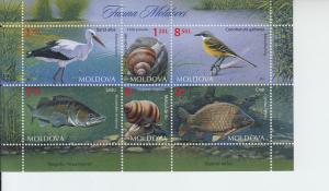 2014 Moldova Fauna SS (Scott 843a) MNH
