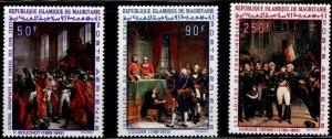 Mauritania Scott C81-C83 MH* Napoleon Art Airmail stamp set