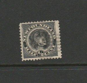 Newfoundland 1894 1/2c Black FU SG 59