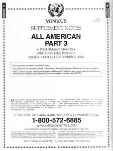 Minkus All American Part 3 MAA310 Supplement 2010