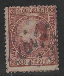 Netherlands Scott 8 used 1867 stamp perf 14