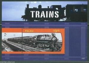 PALAU 2014 TRAINS SOUVENIR SHEET   MINT NH
