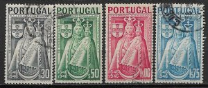 1946 Portugal 671-4 Madonna & Child C/S of 4 used.