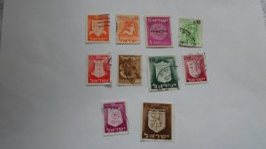 ISRAEL STAMPS MIXED CONDITION. LOT OF 10 STAMPS ( 14