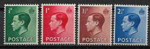 1936 Great Britain 230-3 King Edward VIII C/S of 4 MH