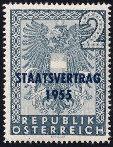 AUSTRIA STAMP 1955 State Treaty mh/og stamp