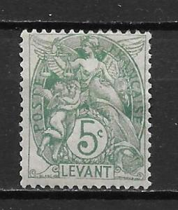 French Offices in Turkey 25 5c single MH