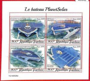 A3140 -TOGO, ERROR MISSPERF Miniature s: 2019 MS Tûranor, PlanetSolar Boat, Ship