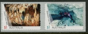 AUSTRALIA Sc#4622-4623 2017 Australian Caves Self Adhesive Coil Pair OG Mint NH