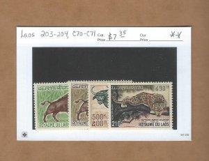 Laos 203-204, C70-C71  MNH