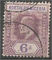 NORTHERN NIGERIA, 1905, used 6p, Edward VII, Scott 24