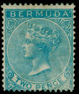 BERMUDA SG4, 2d Bright Blue WMK CC, M MINT. Cat £475.
